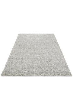 hoogpolig vloerkleed, home affaire collection, »shaggy 30«, hoogte 30 mm, geweven grijs