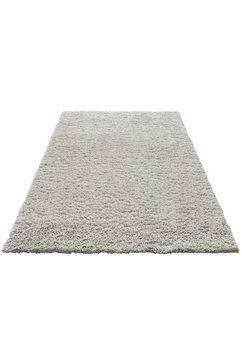 hoogpolig vloerkleed, home affaire, »viva«, hoogte 45 mm, geweven grijs