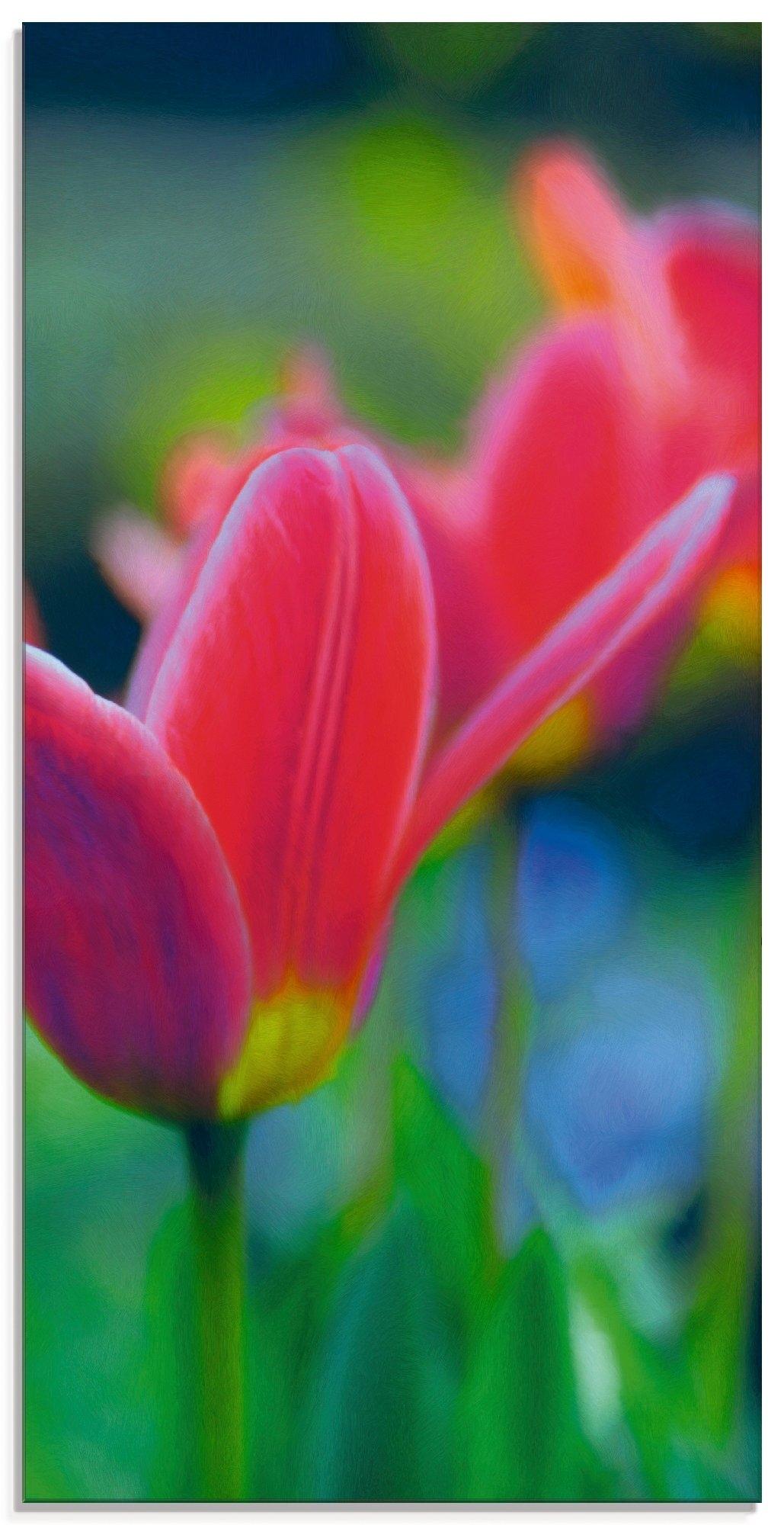 Artland print op glas Tulp (1 stuk) nu online kopen bij OTTO