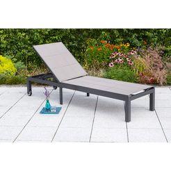 merxx tuinligstoel »trivero«, aluminium - textiel, verstelbaar zilver