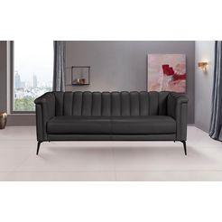 inosign 3-zitsbank lomani in een stijlvol design zwart