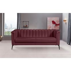 inosign 3-zitsbank lomani in een stijlvol design rood