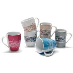 retsch arzberg beker 'koffie' (set van 6) multicolor