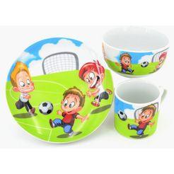 retsch arzberg kinderserviesset 'voetbal' (3-delig) multicolor