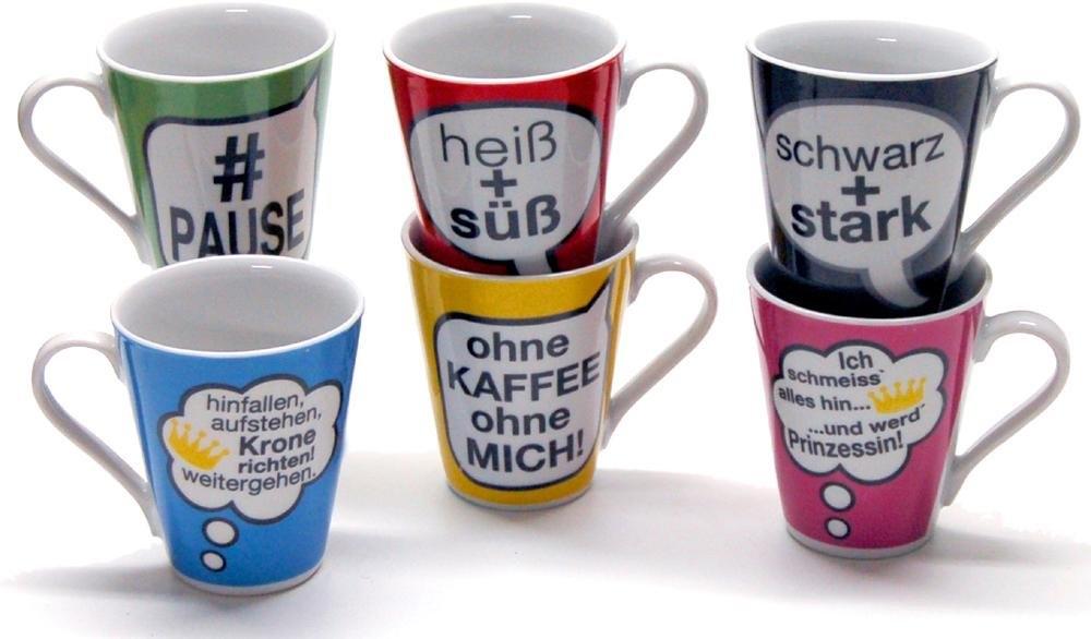 Retsch Arzberg beker 'Spreuken' (set van 6) nu online bestellen