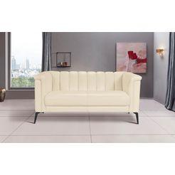 inosign 2-zitsbank lomani in een stijlvol design beige