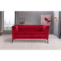 inosign 2-zitsbank »lomani« rood