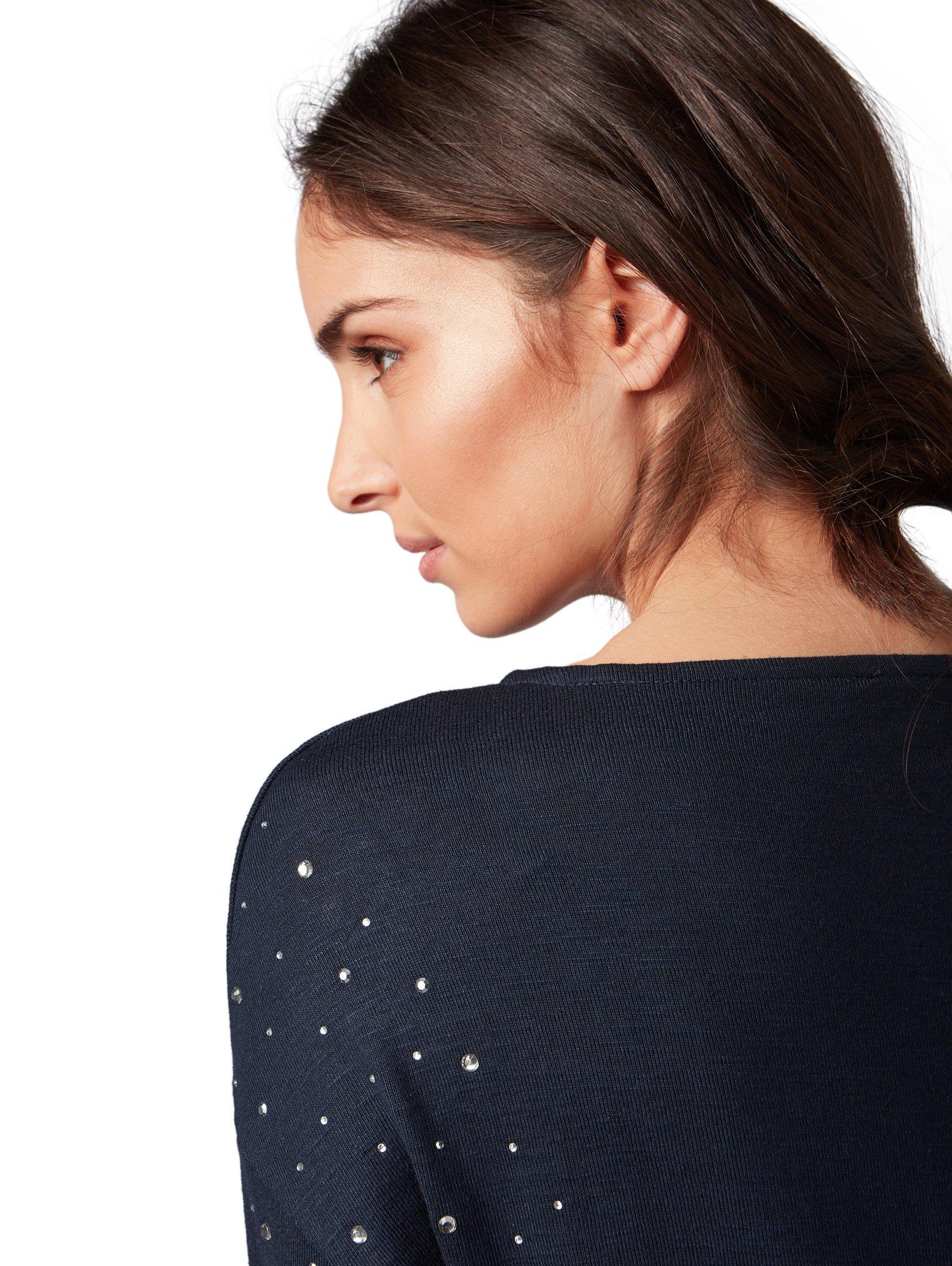 Shirt In Online Tom Tailor Winkel Applicaties De Met Mouwensweatshirt Lange bYvgyf67I