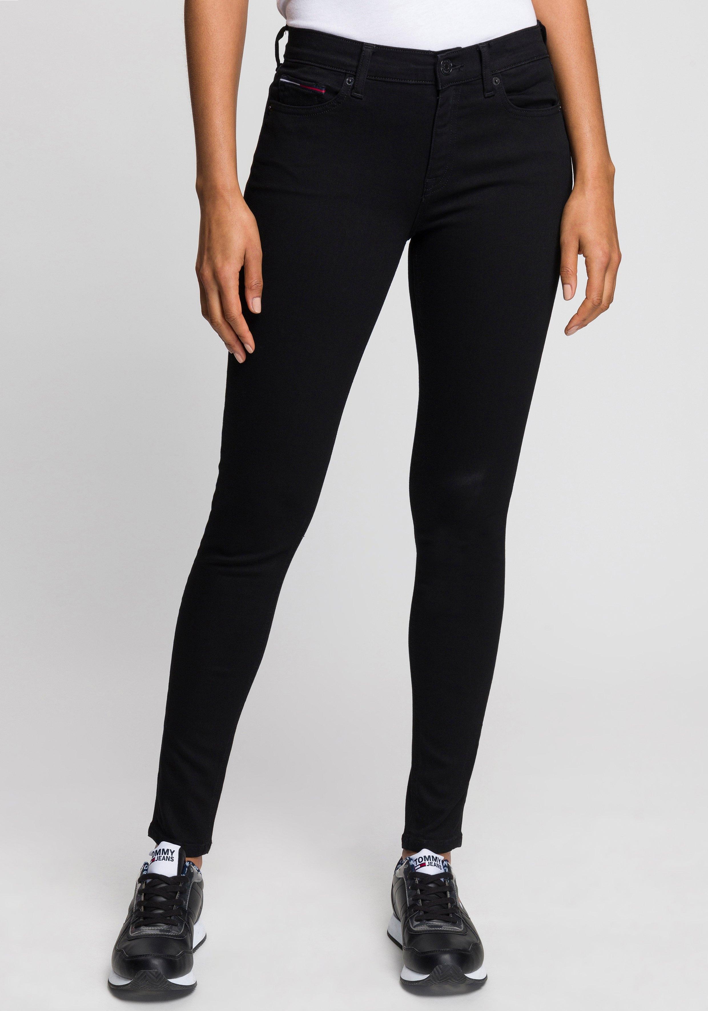 TOMMY JEANS Skinny fit jeans NORA MR SKNY met tommy jeans-logobadge & borduursels nu online kopen bij OTTO