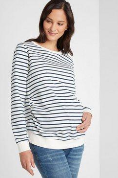 neun monate zwangerschapssweatshirt wit