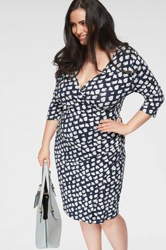 gmk curvy collection zomerjurk blauw