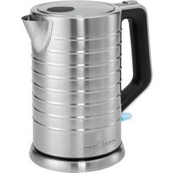 proficook waterkoker, pc-wks 1119, 1,7 liter, 2200 watt zilver