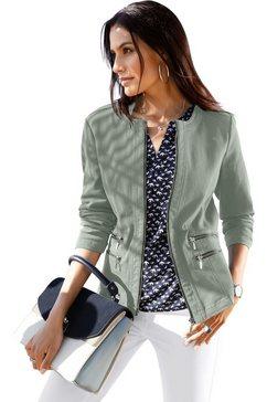 classic inspirationen blazer in jeans-look groen