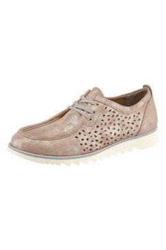 rd-soft veterschoenen met verwisselbaar textielen voetbed beige