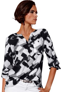 création l lange blouse met een korte knoopsluiting wit