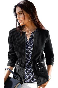 classic inspirationen blazer in jeans-look zwart