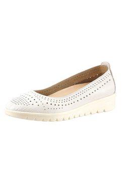 airsoft ballerina's met een uitneembaar voetbed wit