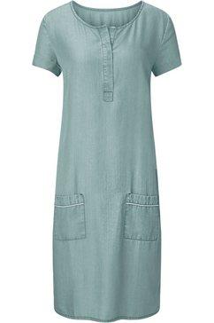 classic inspirationen jurk in jeans-look groen