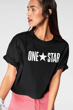 converse t-shirt »one star printable boxy tee« zwart