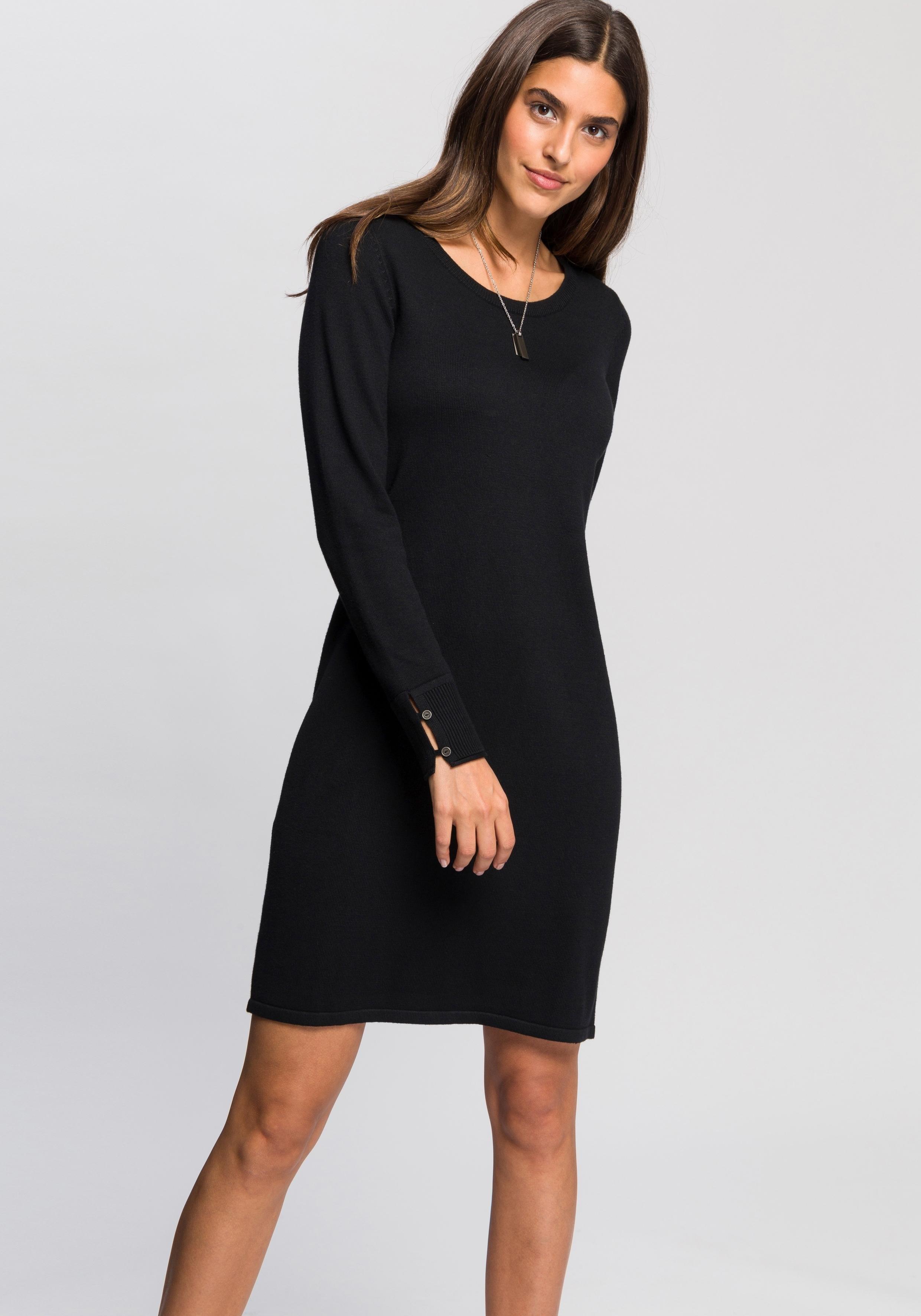 tricot jurk zwart