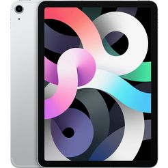 "apple tablet ipad air (2020) wi-fi + cellular 256gb, 10,9 "", ipados, inclusief oplader zilver"