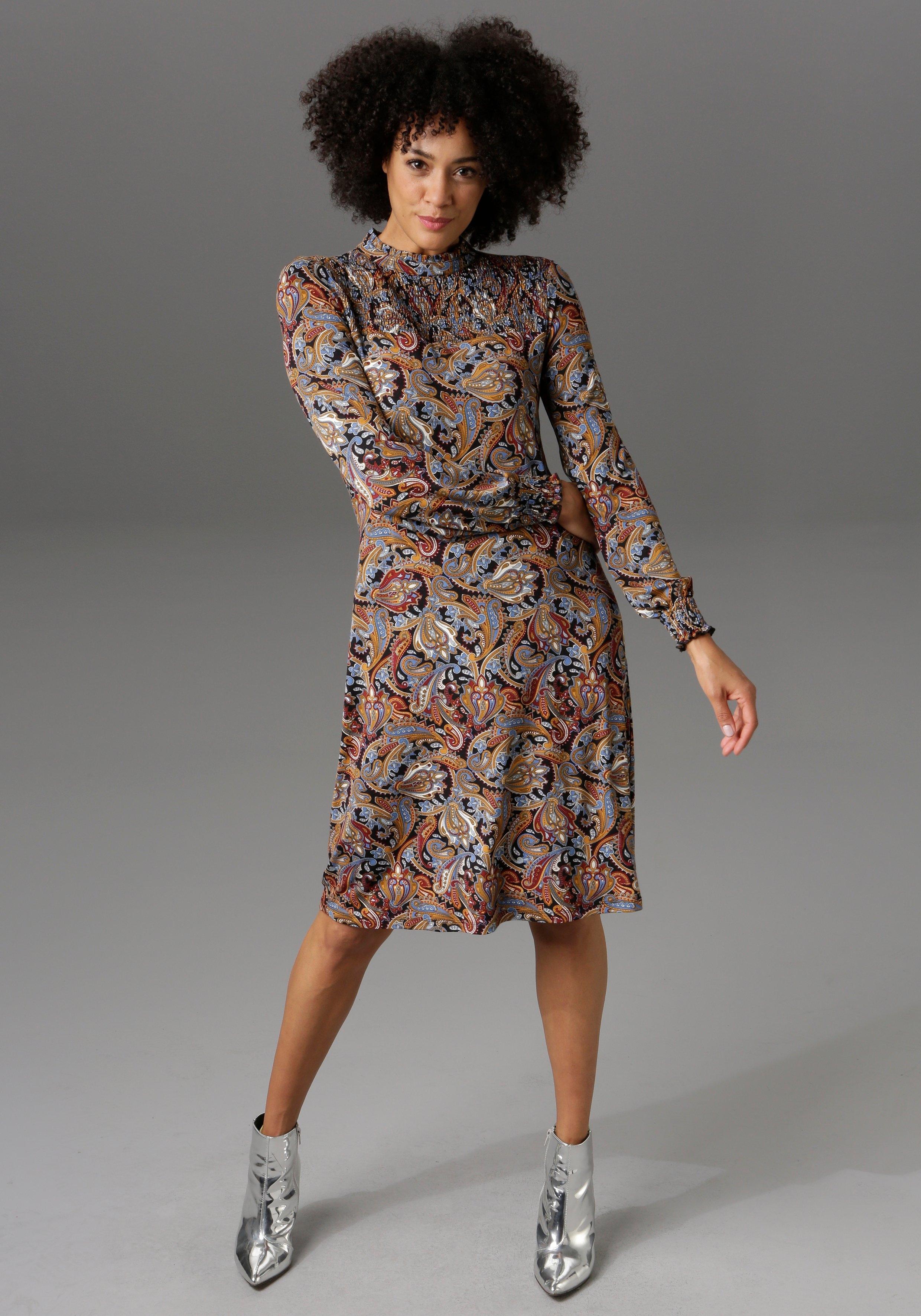 Aniston CASUAL Jerseyjurk met paisleydessin - nieuwe collectie nu online kopen bij OTTO
