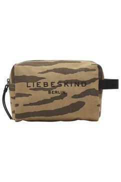 liebeskind berlin make-uptasje juniper tiger cosmetic pouch s met applicaties van gladleer bruin