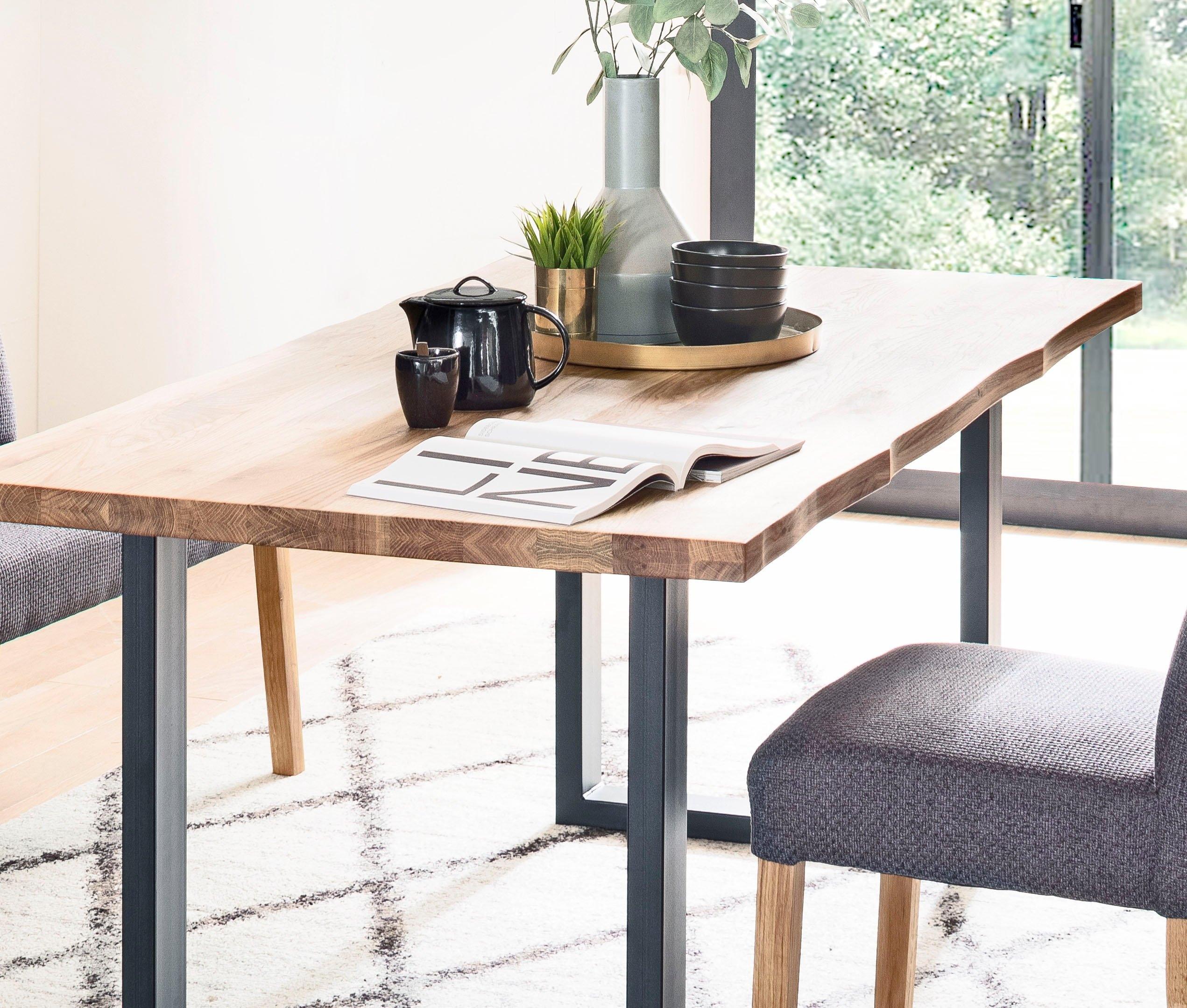 MCA living eettafel Rockford Massief houten tafel met schaaldeel goedkoop op otto.nl kopen