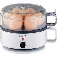 krups eierkoker f23070 met waterniveauaanduiding, kook- en warmhoudfunctie, wit wit