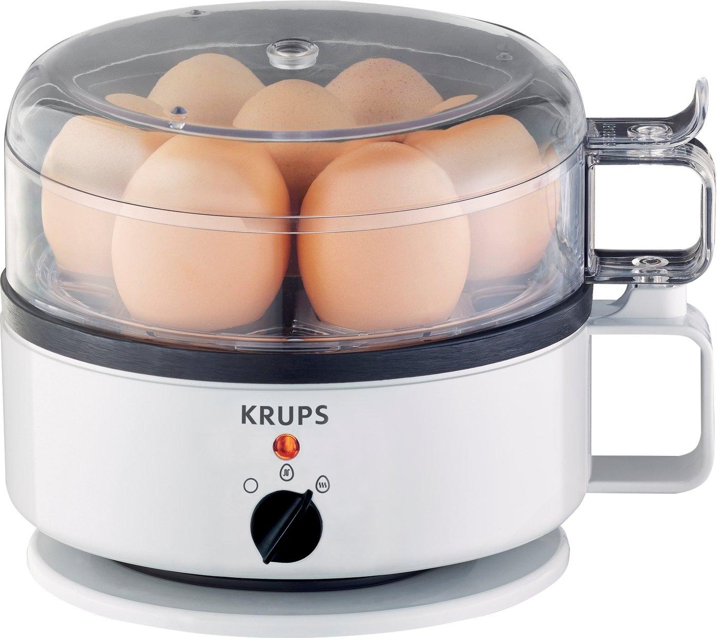 Krups eierkoker F23070 met waterniveauaanduiding, kook- en warmhoudfunctie, wit - verschillende betaalmethodes