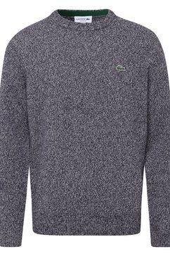 lacoste trui met ronde hals grijs