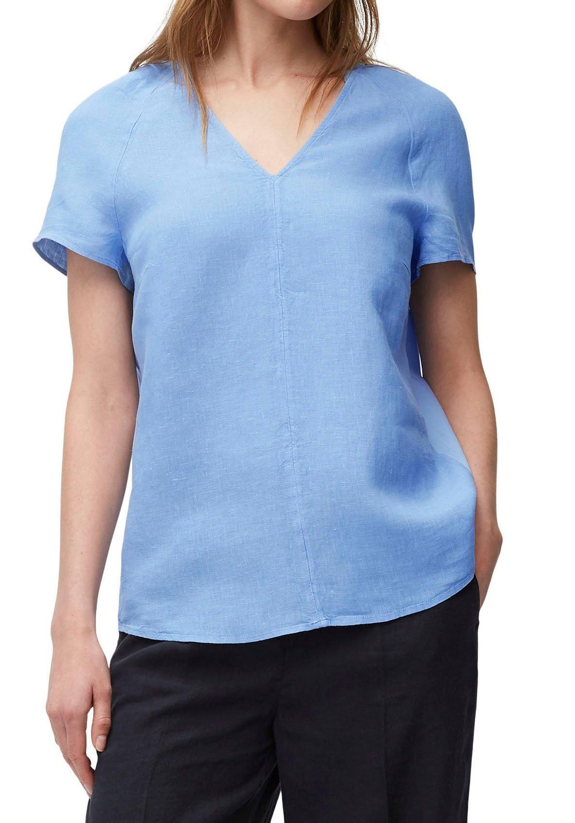Marc O'Polo blouse met korte mouwen met lengtedeelnaad voor nu online bestellen