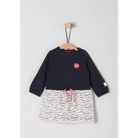 NU 15% KORTING: s.Oliver RED LABEL Junior Jersey jurk met applicatie voor baby