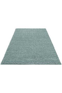 hoogpolig vloerkleed, home affaire collection, »shaggy 30«, hoogte 30 mm, geweven blauw