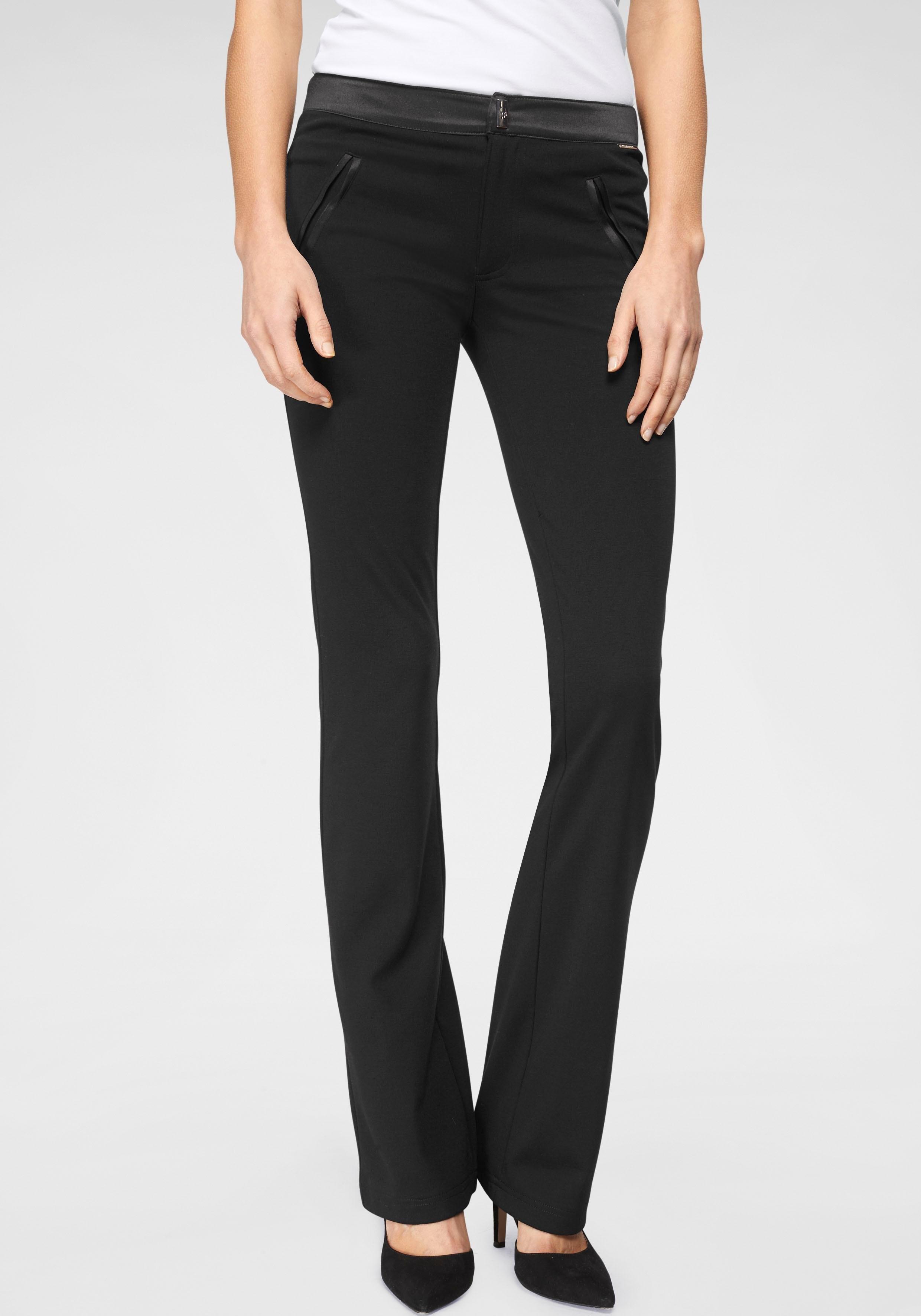 linnen broek zwart