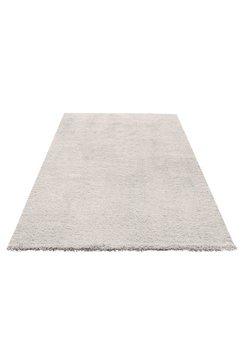 hoogpolig vloerkleed, my home selection, »desner«, hoogte 38 mm, handgetuft wit