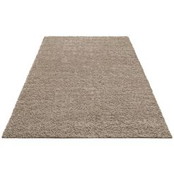 hoogpolig vloerkleed, home affaire collection, »shaggy 30«, hoogte 30 mm, geweven bruin