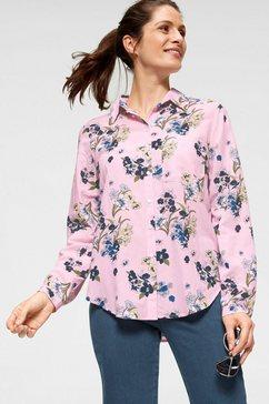 clarina gedessineerde blouse roze