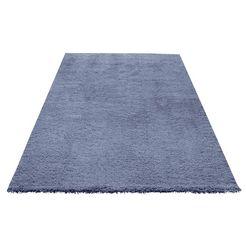 hoogpolig vloerkleed, my home selection, »desner«, hoogte 38 mm, handgetuft blauw