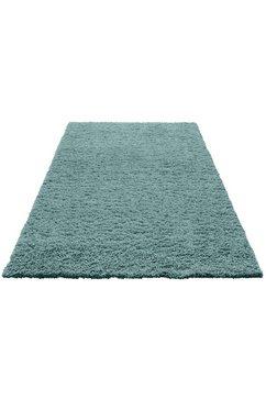 hoogpolig vloerkleed, home affaire, »viva«, hoogte 45 mm, geweven blauw