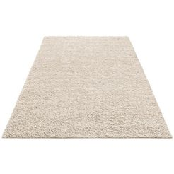 hoogpolig vloerkleed, home affaire collection, »shaggy 30«, hoogte 30 mm, geweven beige