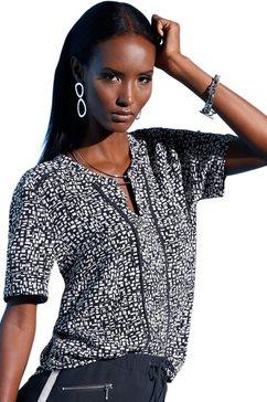 creation l blouse met topmodern minimal-dessin blauw