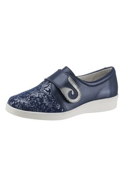klittenbandschoenen met uitneembaar, leren voetbed blauw
