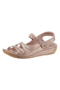 gemini sandalen met pu-antislipzool in kurk-look roze