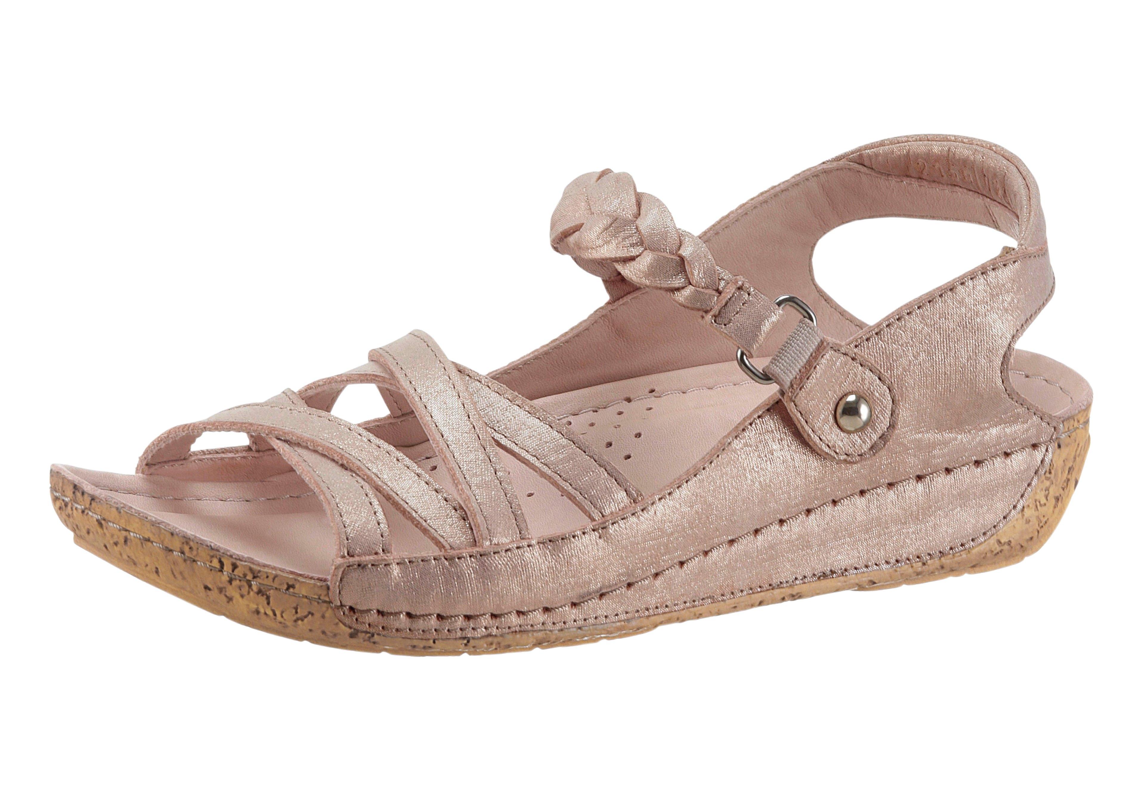 Gemini sandalen met PU-antislipzool in kurk-look voordelig en veilig online kopen