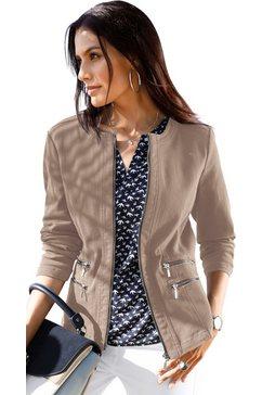 classic inspirationen blazer in jeans-look bruin
