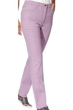 casual looks jeans met studsgarnering paars