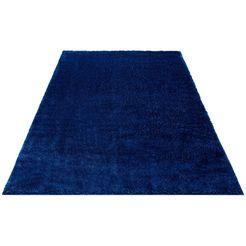 my home hoogpolig vloerkleed micro soft ideal bijzonder zacht door microvezel, extra zacht, woonkamer blauw