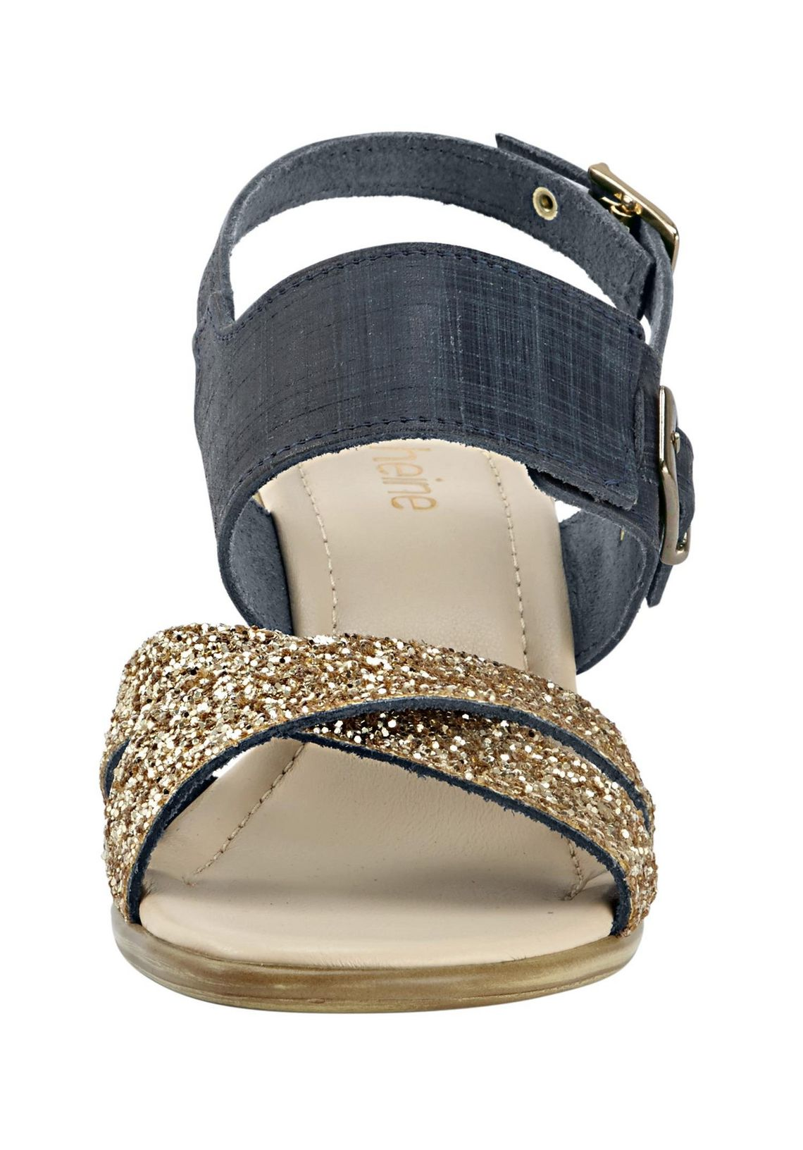 Sandaaltjes online bestellen  blauw/goudkleur