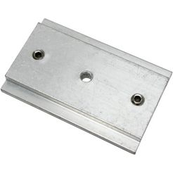koppelstuk voor gordijnrails, gardinia, voor 3- en 5-sporige paneelgordijnrails (per stuk) zilver